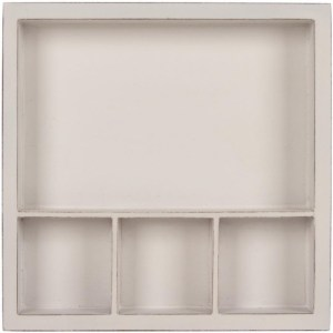 Solo Shadow Box Tray 6″X6″ – White, Holds (1) 6″X4″ & (3) 2″X2″ Photo