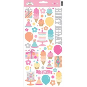 Sugar Shoppe Cardstock Stickers 6″X13″ – Icons