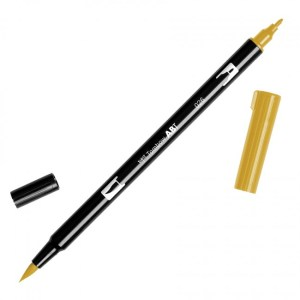 Tombow Dual Brush Marker – 026 Yellow Gold