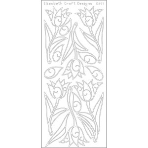 Tulips Peel-Off Stickers – Gold