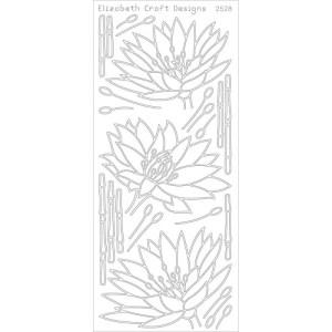 Waterlilies Peel-Off Stickers – Black