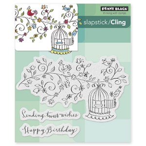 Penny Black Cling Stamps –  Tweet Wishes