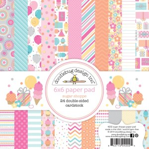 Doodlebug 6×6 paper pad – sugar shoppe