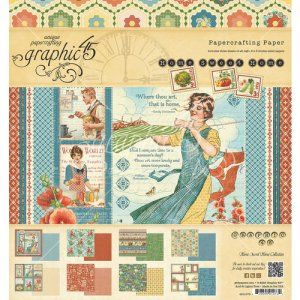 Graphic 45 – Home Sweet Home Collection – 8 x 8 Paper Pad