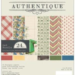 Authentique Paper Pad 6″X6″ 24/Pkg – Adventure