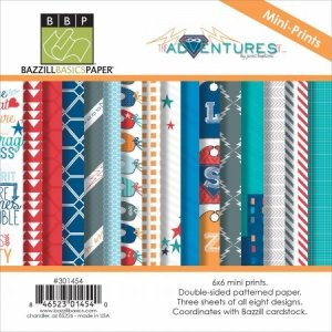 Bazzill Adventures Paper Multi-Pack, 6×6, 24-Pack