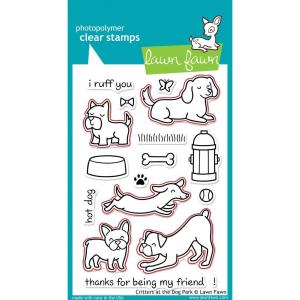 Lawn Fawn – critters at the dog park – lawn cuts
