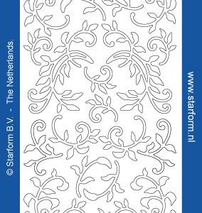 Starform Outline Stickers 1283 – Purple/Silver