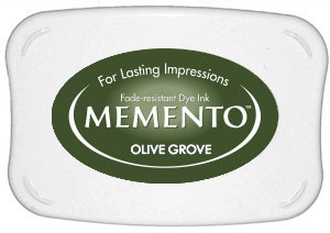 Memento Dye Ink Pad – Olive Grove