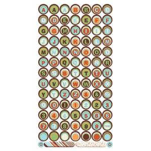 Bo Bunny Cardstock Stickers Play All Day Alphabet