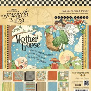 Graphic 45 8×8 Paper Pad Mother Goose