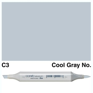 Copic Sketch C3-Cool Gray No.3