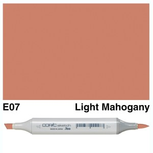Copic Marker Sketch E07 Light Mahogany