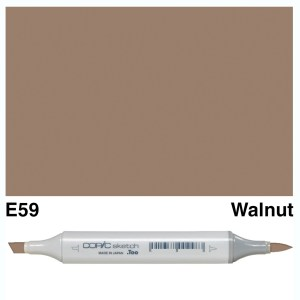 Copic Sketch E59-Walnut