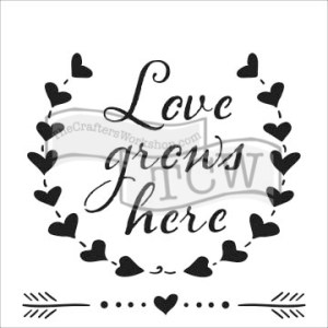 The Crafter's Workshop 6×6 Stencil Love Grows