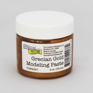 The Crafter's Workshop Grecian Gold Modeling Paste 2 oz.