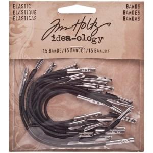 Tim Holtz Idea-Ology Elastic Bands 15/Pkg