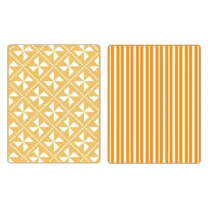 Sizzix Textured Impressions Embossing Folders 2PK – Pinwheels & Stripes Set