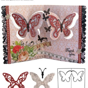 Elizabeth Craft Designs – Karen Burniston – Pop it Ups Metal Dies – Butterfly Pivot Card