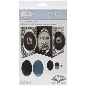 Elizabeth Craft Designs – Karen Burniston – Pop it Ups Metal Dies – Accordion Oval Card