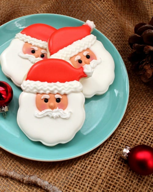 Santa Face Cookies Recipe And Tutorial In Katrinas Kitchen