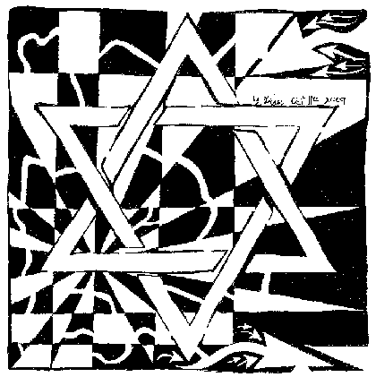 Jewish Star Magen David Maze Art