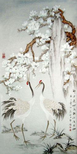 Chinese Crane Painting Crane 2384014 66cm X 130cm 26〃 X 51〃