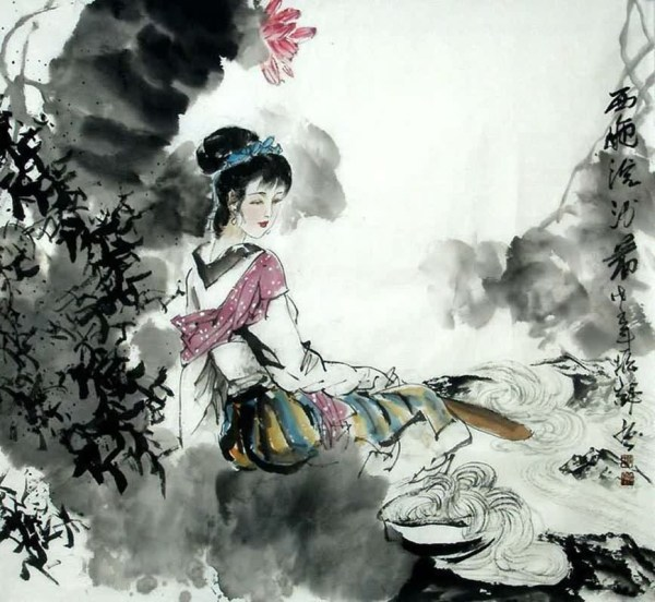 Chinese Famous Four Beauties Painting 3763003 97cm X 90cm