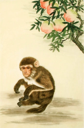 Chinese Monkey Painting 4616007 69cm X 46cm 27〃 X 18〃