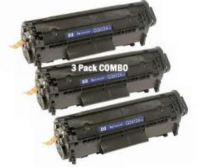 Value Pack Of 3 X Hp 12a Q2612a Compatible Toner Cartridges