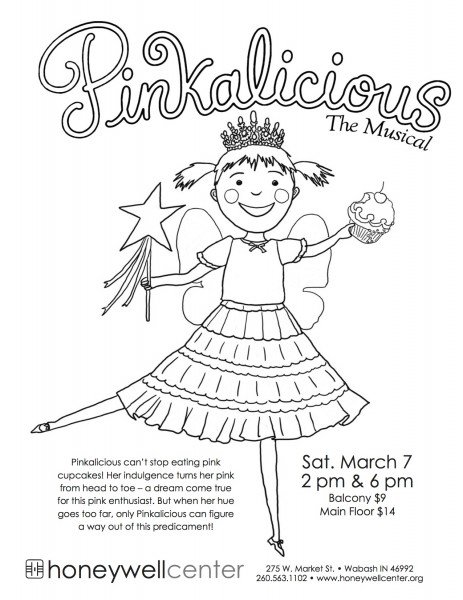 Winner Announced: Pinkalicious At The Honeywell — Coloring