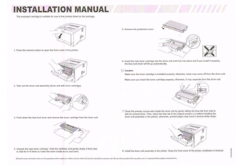 medium resolution of brother laser printer cartridge instructions