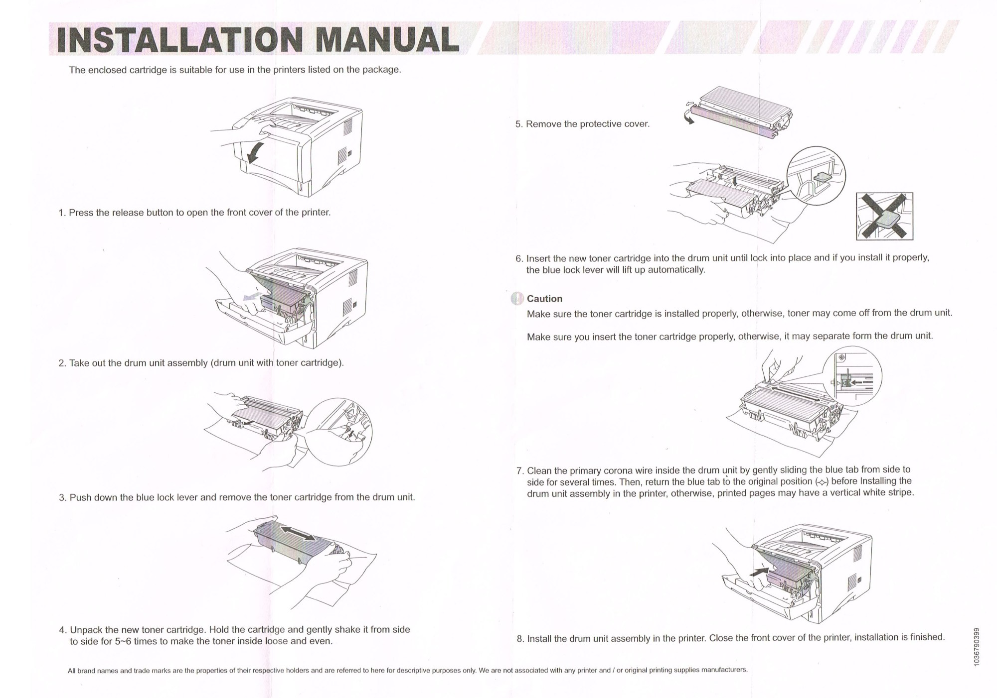 hight resolution of brother laser printer cartridge instructions