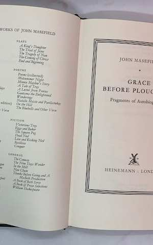 Grace before Ploughing: Fragments of Autobiography