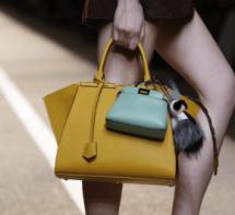Fendi-Yellow-Trois-Jour-Bag-with-Mint-Green-Peekaboo-Micro-Bag-Spring-2015-e1411063345871