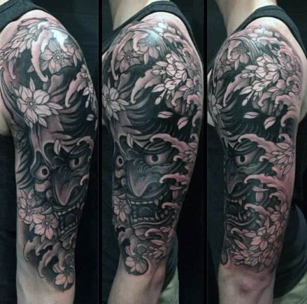 Japanese Lotus Flower Tattoo Sleeve