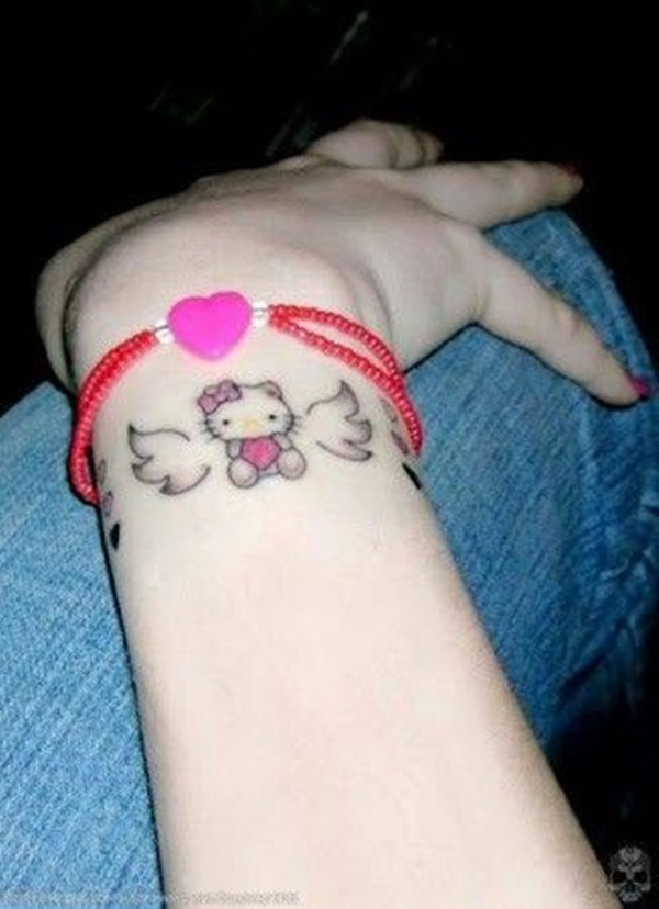 Angel Tattoos For Girls On Wrist