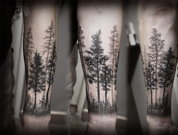 Dark Forest Tattoo Designs
