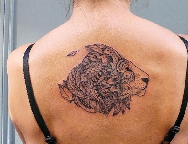 Tribal Lion Shoulder Tattoo