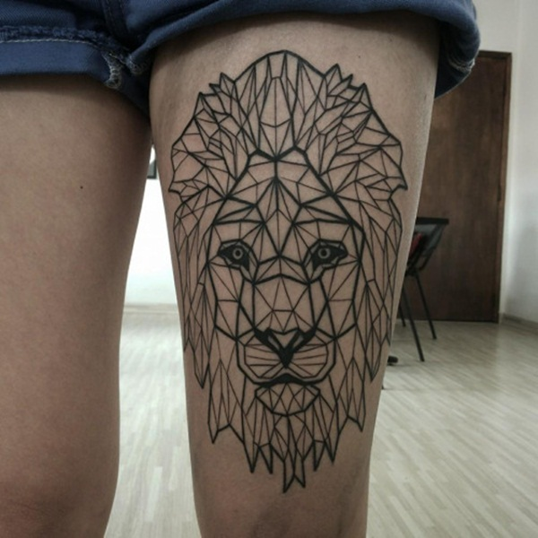 Cute Lion Tattoo Designs