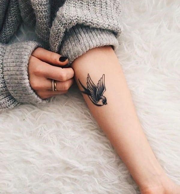 Dove Bird Tattoo On Wrist