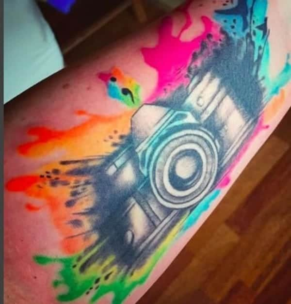 Watercolor Tattoo Background