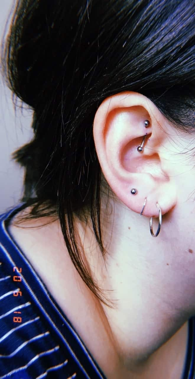 hight resolution of  rook piercing