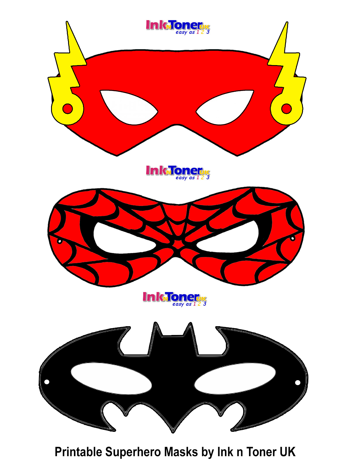 Printable Superhero Masks For Super Hero Day