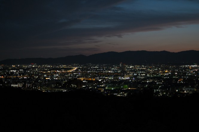Fushimi Inari-taisha view night kyoto