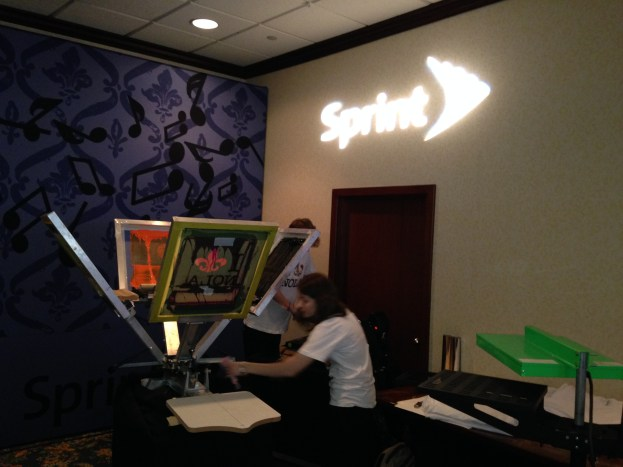 Live Screen Printing New Orleans, Sprint