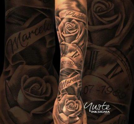 Tatuaje De Rosas Nombres Relojes Tattoo Tatuajes Y Tattoos