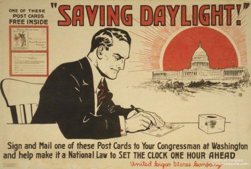 Man plotting to encase capitol in large, red ball. Daylight Saving Time!!