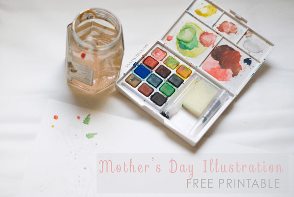 Mother's day illustration free printable by Zakkiya Hamza of Inkstruck