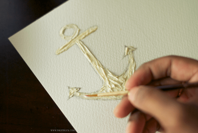 an easy tutorial using masking fluid
